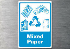 Recycling sticker Mixed paper 7yr vinyl commercial office industrial