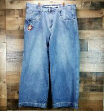 JNCO Mens 42x32 Blue Skater Jeans Baggy Wide Leg Grunge 90s Denim Jester 102