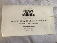 Dept. 56 New England Village Series Yankee Jud Bell Casting 56430 Mint