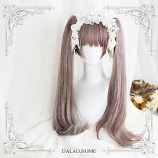 Japanese Princess Lolita Girl Pink Gradient Wig Long Curly Hair Cospaly Woman #T