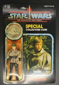 Vintage 1985 Star Wars POTF Luke Skywalker (In Battle Poncho) MOC