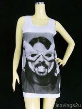 Dave Grohl FOO FIGHTERS Tank Top, Grunge ROCK White SINGLET, Mini Dress T-shirt