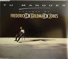 "GOLDMAN : TU MANQUES (mix radio) + REMIX ""UN, DEUX, TROIS"" - [ RARE MAXI-CD ]"