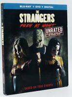 Strangers: Prey at Night (Blu-ray+DVD+Digital, 2018; Unrated) NEW w/ Slipcover