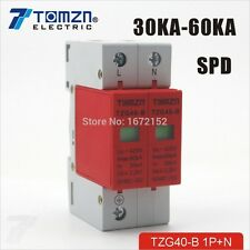SPD 1P+N 30KA~60KA B ~385VAC House Surge Protective Low-voltage Arrester Device