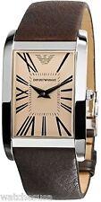 Emporio Armani Men's AR2032 Rectangular Amber Dial Watch
