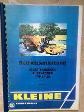 Betriebsanleitung selbstfahrender Rübenroder Kleine Typ SF 25 Jahr 1993