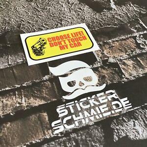 CHOOSE LIFE! DON'T TOUCH MY CAR JDM rot/gelb Stickerschmie.de+Gratisaufkleber