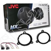 JVC CS-HX539 Lautsprecher Türe Front/Heck+Ringe 130mm Renault Wind 10-12+Adapter