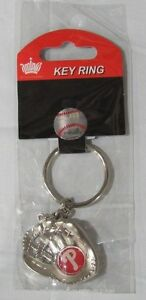 MLB Chrome Glove With Logo in Palm Key Chain Philadelphia Phillies AMINCO