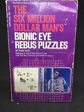 The Six Million Dollar Man's Bionic Eye Rebus Puzzles Book 1976 HARD TO FIND!