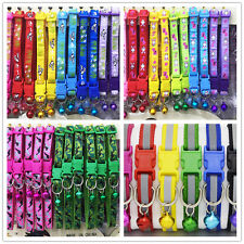 48PCS Small Dog Collars Wholesale Lot Puppy Kitty Cat Collar Reflective Nylon