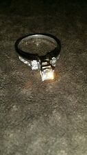 14K WG DIAMOND ENGAGEMENT RING size 6 BEAUTIFUL