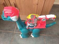 Playskool Heroes Chomp Squad Blazeasaurus stomping dinosaur