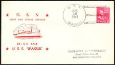 Minesweeper USS WASSUC CmC-3 FIRST DAY POSTAL SERVICE Naval Cover (3653y)