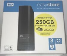 WD - easystore 8TB External USB 3.0 Hard Drive - Black (NEW SEALED)