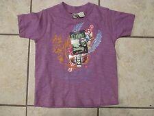Boys CHAMS DESTINY SUCCESS 4T Cotton Purple Short Sleeve Graphic Tee Shirts