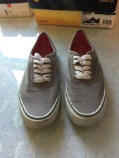 Womens Joe Boxer Gray canvas lace up tennis shoes size 8