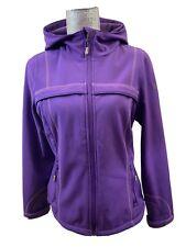 32 DEGREES WEATHERPROOF Purple Hooded Windbreaker Full Zip Long Sleeve Coat Sz M