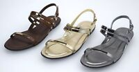 TOD'S WOMAN FLAT SANDALS SHOES CASUAL FREE TIME LEATHER + STELL CODE XXW0OV0G980