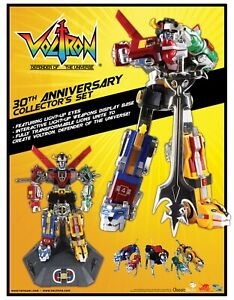 30th Anniversary VOLTRON Collector's Giftset - Diecast w/ Light-up eyes - NEW