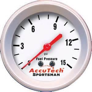 Accutech Fuel Pressure Gauge for Rally BRISCA Autograss