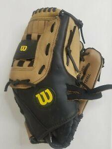 "Wilson A360 Leather Softball Glove Left Hand Mitt 13"" Oversized Pocket Baseball"