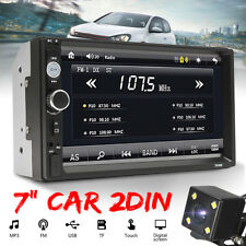 "7"" HD Car Stereo Touchscreen MP5 Player Double 2 DIN Bluetooth Radio + Camera"