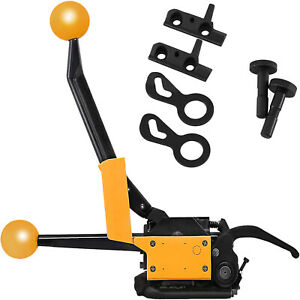 """A333 Manual Steel Strapping Tool No buckle 1/2""""-3/4"""" Pallets Box 850N Tension"""