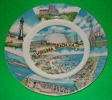 Virginia Beach Vintage Collectible Decorative Plate Retro Beach Nautical Theme