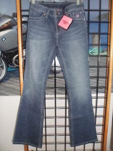 NOS Harley Davidson Womens Ladies Pink Label Bootcut Jean Pants 99170-12VW