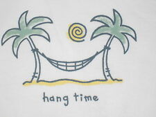 LIFE IS GOOD WOMENS S/S HANG TIME HAMMOCK V-NECK T- SHIRT SIZE M