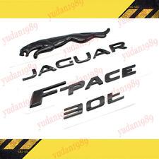 Glossy Black Jaguarlogof Pace30t Emblem Rear Badge Decal For Jaguar F Pace Fits Jaguar