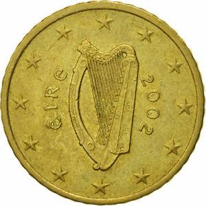 [#466281] IRELAND REPUBLIC, 50 Euro Cent, 2002, TTB, Laiton, KM:37