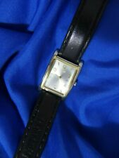 GUESS G66238L BLACK LEATHER BAND GOLD & SILVER TONE WATCH NEW BATTERY WORKS A15