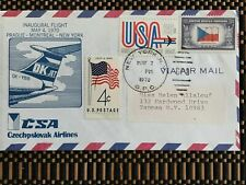 CSA CZECH AIRLINES INAUGURAL FLIGHT  PRG-YUL-JFK  MAY 1970 FIRST DAY COVER