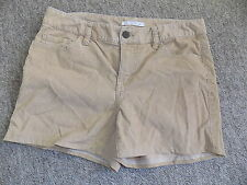 Camel coloured corduroy chino hotpant shorts London Jean Victorias Secret sz 8
