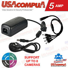 Power Supply Adapter with 4 way Splitter Security system CCTV Camera 5Amp