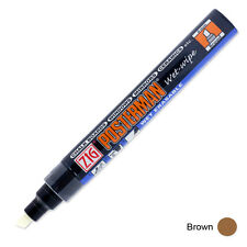 Zig Posterman Wet Wipe Marker - Broad - Brown (Pack of 12)
