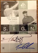 2002 SP Authentic Golf - Sign of the times Dual - Paul Azinger & Tom Lehman