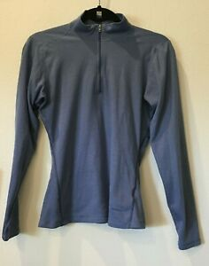 Patagonia capilene women's medium blue zip long sleeve shirt base layer 21-1079