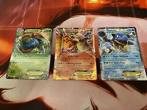 Venusaur, Charizard, Blastoise EX 1, 11 &17/83 Pokemon XY Generations Set M/NM