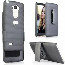 LG G Stylo LS770 Stylus Slim Shell Holster Case Cover with Belt Clip - Black