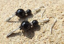 Handmade Onyx Stone Costume Earrings