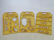 Wargames Guard Imperial Chaos Graffiti Painting Stencil Set of 3