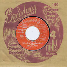 RAY GENTRY - WILLIE WAS A BAD BOY b/w DO THE FLY  (Killer 50s ROCKABILLY) REPRO