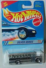 Hot Wheels 1995 Silver Series School Bus #328 Chrome with 3 Spoke Wheels MOC