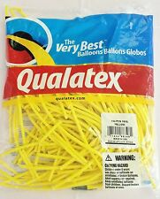 Qualatex Yellow 160Q Entertainer Balloon 100 ct. **FREE SHIPPING**