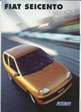 FIAT SEICENTO  HOBBY SPECIAL EDITION SALES BROCHURE 1999 GERMAN LANGUAGE