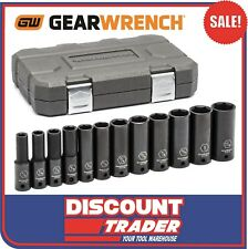 "GearWrench 12 Piece 1/2"" Drive Impact Socket Set Deep Imperial SAE - 84942N"